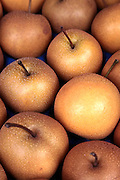 Pears at a Market Stall. Photographed in Vienna Austria