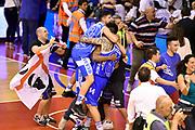 DESCRIZIONE : Campionato 2014/15 Serie A Beko Grissin Bon Reggio Emilia - Dinamo Banco di Sardegna Sassari Finale Playoff Gara7 Scudetto<br /> GIOCATORE : Massimo Chessa Brian Sacchetti<br /> CATEGORIA : esultanza postgame<br /> SQUADRA : Banco di Sardegna Sassari<br /> EVENTO : Campionato Lega A 2014-2015<br /> GARA : Grissin Bon Reggio Emilia - Dinamo Banco di Sardegna Sassari Finale Playoff Gara7 Scudetto<br /> DATA : 26/06/2015<br /> SPORT : Pallacanestro<br /> AUTORE : Agenzia Ciamillo-Castoria/GiulioCiamillo<br /> GALLERIA : Lega Basket A 2014-2015<br /> FOTONOTIZIA : Grissin Bon Reggio Emilia - Dinamo Banco di Sardegna Sassari Finale Playoff Gara7 Scudetto<br /> PREDEFINITA :