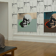 EDINBURGH, UNITED KINGDOM - JULY 31: A visitor inside the National Gallery of Scotland to mark an upcoming Andy Warhol exhibition, coinciding with the 20th anniversary of the artist's death, on July 31, 2007 in Edinburgh, Scotland. This major exhibition is the most comprehensive show dedicated to the work of the artist shown in Scotland.