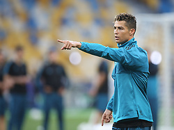 May 25, 2018 - Kiev, Ukraine - Real Madrid's Portuguese forward Cristiano Ronaldo during a Real Madrid team training session at the Olympic Stadium in Kiev, Ukraine on May 25, 2018, on the eve of the UEFA Champions League final football match between Liverpool and Real Madrid. (Credit Image: © Raddad Jebarah/NurPhoto via ZUMA Press)