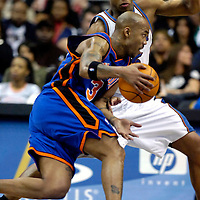 10 March 2007:   New York Knicks guard Stephon Marbury (3) drives to the basket in the second half against Washington Wizards guard Antonio Daniels (6) at the Verizon Center in Washington, D.C.  The Knicks defeated the Wizards 90-89.