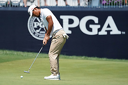 August 10, 2018 - St. Louis, Missouri, United States - Satoshi Kodaira putts the 9th green during the second round of the 100th PGA Championship at Bellerive Country Club. (Credit Image: © Debby Wong via ZUMA Wire)