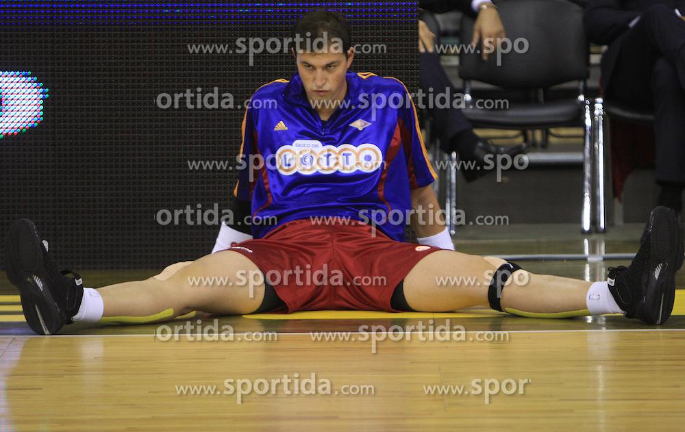 Primoz Brezec (12) at basketball match of 3rd Round of Euroleague between KK Union Olimpija (SLO) and Lottomatica Roma (ITA), in Arena Tivoli, Ljubljana, Slovenia, on November 6, 2008. Lottomatica  won the match 78:67.