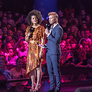 NLD/Amsterdam/20180905- Uitreiking 3FM Awards 2018, Angelique Houtveen en Jan Versteegh