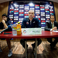 20091012: Basketball - Press conference of KK Union Olimpija