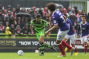 Forest Green Rovers Omar Bugiel(11) runs forward during the EFL Sky Bet League 2 match between Forest Green Rovers and Exeter City at the New Lawn, Forest Green, United Kingdom on 9 September 2017. Photo by Shane Healey.