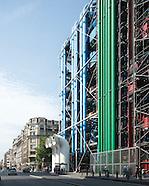Le centre Georges Pompidou (CNAC), Beaubourg, Paris