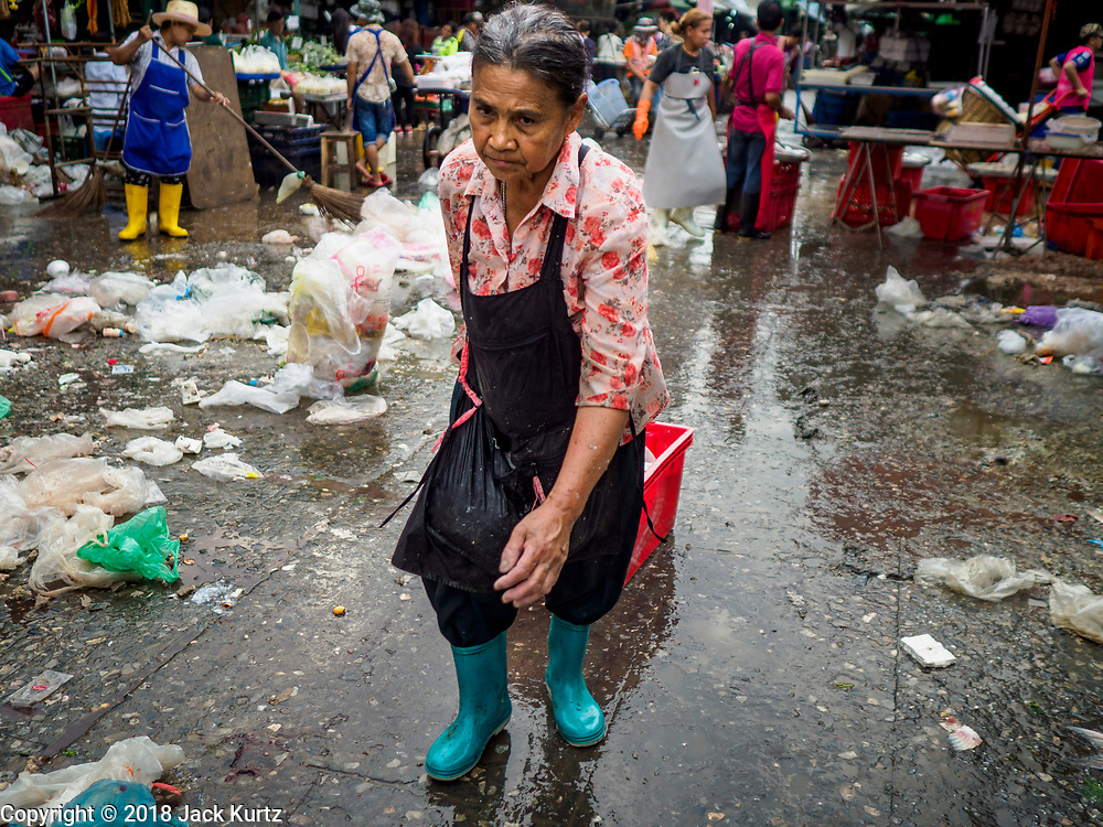 22 MAY 2018 - BANGKOK, THAILAND:  about 60% of the world's plastic pollution originates in Asia and Thailand is a leading source of that. Recent efforts to slow the amount of plastics entering the waste stream have met with only limited success.       PHOTO BY JACK KURTZ