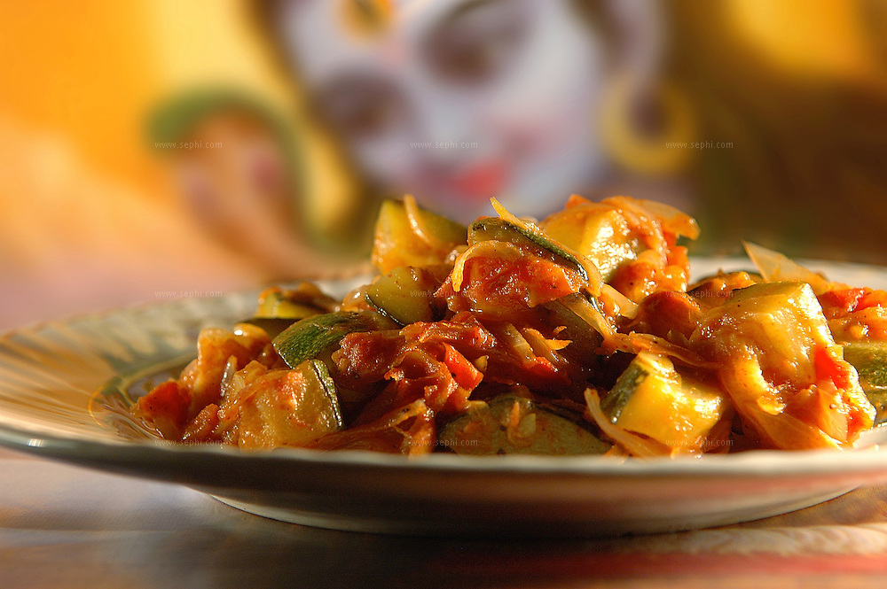 Jugni Tamatar - Zucchini and tomatoes ( Recipe available upon request )