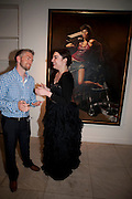 LOIS WINSTONE; MITCH GRIFFITHS, Opening of 'The Promised Land' Exhibition of work by Mitch Griffiths. Halcyon Gallery. Bruton St. London. 28 April 2010 *** Local Caption *** -DO NOT ARCHIVE-© Copyright Photograph by Dafydd Jones. 248 Clapham Rd. London SW9 0PZ. Tel 0207 820 0771. www.dafjones.com.<br /> LOIS WINSTONE; MITCH GRIFFITHS, Opening of 'The Promised Land' Exhibition of work by Mitch Griffiths. Halcyon Gallery. Bruton St. London. 28 April 2010