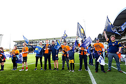 Bristol Bears Community Foundation Flag Bearers - Rogan/JMP - 07/10/2018 - RUGBY UNION - Sixways Stadium - Worcester, England - Worcester Warriors v Bristol Bears - Gallagher Premiership.