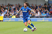 AFC Wimbledon defender Callum Kennedy (23) dribbling during the EFL Sky Bet League 1 match between AFC Wimbledon and Shrewsbury Town at the Cherry Red Records Stadium, Kingston, England on 12 August 2017. Photo by Matthew Redman.