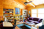 Top selling author Karin Slaughter does all her writing in a cabin in Epworth, Georgia. Her father Howard built the 2,400 square foot cabin for her. The upstairs office, seen June 13, 2010..CREDIT: Kendrick Brinson/LUCEO.KarinSlaughter