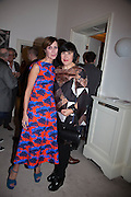 VALERIA NAPOLEONE; ALICE RAWTHORN Valeria Napoleone hosts a dinner at her home in honour of Judith Hopf in cerebration of her new commission at Studio Voltaire. London. 15 October 2013