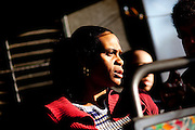 Reenita Shepherd rides the CTRAN 501 bus at dawn March 31, 2010 marked Clayton County, Georgia's last day of the county's public bus system, CTRAN, running.