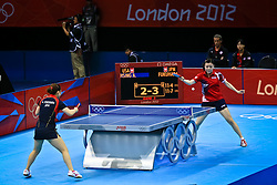 USA v Japan in table tennis. The Americans were young beaten easily by Japan but should be contenders by 2016.