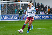 West Ham United Women forward Alisha Lehmann (7) in action during the FA Women's Super League match between Manchester City Women and West Ham United Women at the Sport City Academy Stadium, Manchester, United Kingdom on 17 November 2019.