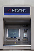 An out of service Natwest bank cash machine, Baker street, London.