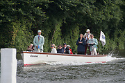 Henley on Thames. United Kingdom. Umpires Launch, with Richard PHELPS in the stern.    Friday, 2016 Henley Royal Regatta, Henley Reach.   <br /> <br /> Friday  01/07/2016<br /> <br /> © Peter SPURRIER<br /> <br /> NIKON CORPORATION  NIKON D500  f9  1/640sec  300mm  11.5MB