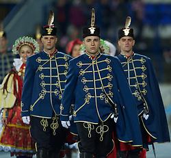 OSIJEK, CROATIA - Tuesday, October 16, 2012: Croatia military during the Brazil 2014 FIFA World Cup Qualifying Group A match at the Stadion Gradski Vrt. (Pic by David Rawcliffe/Propaganda)