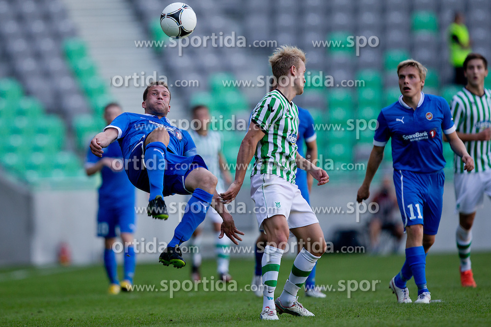 Miika Koppinen of Tromso IL during football match between NK Olimpija Ljubljana and Tromsø IL  (NOR) in 1st Leg of UEFA Europa League 2013 2nd  Qualifying Round, on July 19, 2012 in SRC Stozice, Ljubljana, Slovenia. (Photo by Matic Klansek Velej / Sportida.com)