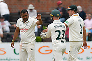 Wicket - Samit Patel of Nottinghamshire celebrates taking the wicket of Josh Davey of Somerset during the Specsavers County Champ Div 1 match between Somerset County Cricket Club and Nottinghamshire County Cricket Club at the Cooper Associates County Ground, Taunton, United Kingdom on 10 June 2018. Picture by Graham Hunt.