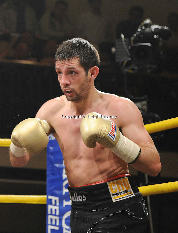 Gary Buckland defeats Stevie Bell (pictured) at Prizefighter York Hall London 20.11.10. Photo credit © Leigh Dawney 2010
