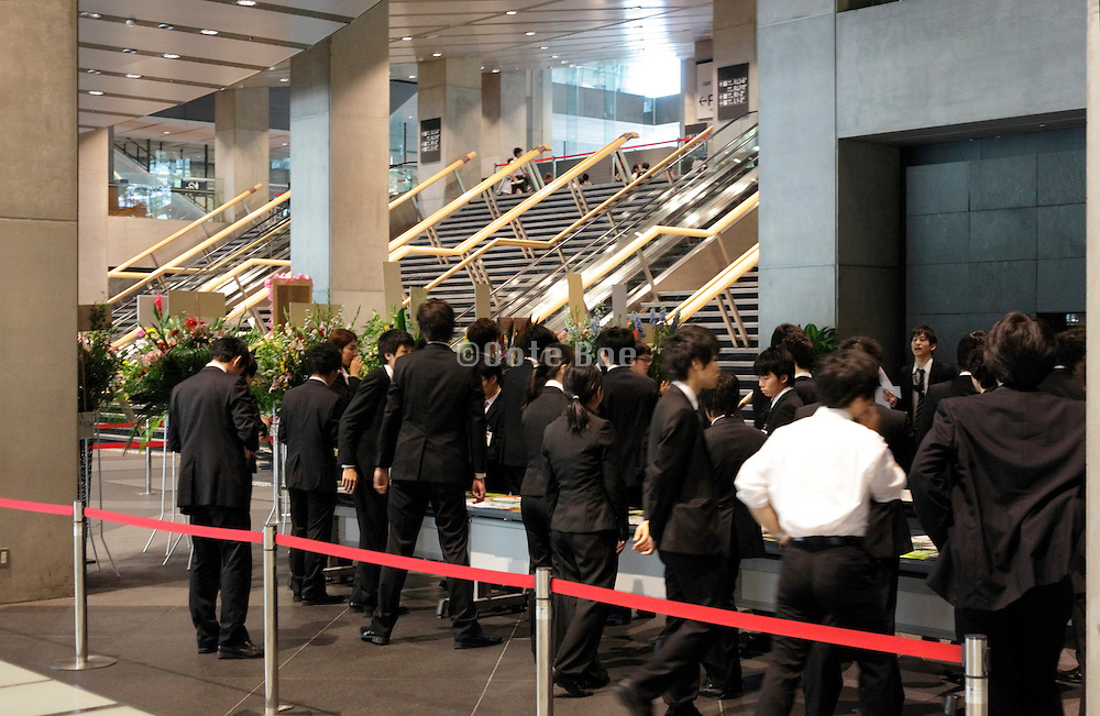 young Japanese business people meeting at conference hall Tokyo