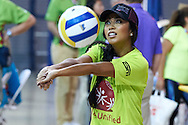 SO volunteer in action while Unified Volleyball Experience during sixth day of the Special Olympics World Games Los Angeles 2015 on July 30, 2015 at Pauley Pavilion at UCLA (University of California Los Angeles) in Los Angeles, USA.<br /> <br /> USA, Los Angeles, July 30, 2015<br /> <br /> Picture also available in RAW (NEF) or TIFF format on special request.<br /> <br /> For editorial use only. Any commercial or promotional use requires permission.<br /> <br /> Adam Nurkiewicz declares that he has no rights to the image of people at the photographs of his authorship.<br /> <br /> Mandatory credit:<br /> Photo by © Adam Nurkiewicz / Mediasport