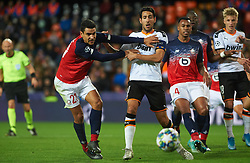 November 5, 2019, Valencia, Valencia, Spain: Daniel Parejo of Valencia and Benjamin Andre of Losc Lille during the during the UEFA Champions League group H match between Valencia CF and Losc Lille at Estadio de Mestalla on November 5, 2019 in Valencia, Spain (Credit Image: © AFP7 via ZUMA Wire)