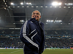 Schalke trainer Felix Magath  during the UEFA Champions League round of 16 second leg match between Schalke 04 and Valencia at Veltins Arena on March 9, 2011 in Gelsenkirchen, Germany.