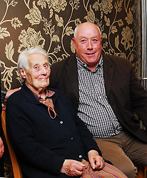 Pictured at the past pupils reunion of Rossduane N.S. Kilmeena that took place in the Clew Bay Hotel recently were Mary 'Larry' Keane now in her 95th year and her son Michael...Pic Conor McKeown