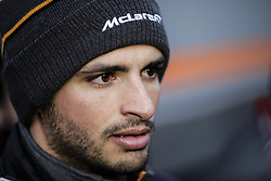 February 18, 2019 - Barcelona, Barcelona, Spain - Carlos Sainz Jr from Spain with 55 Mclaren F1 Team - Renault MCL34 portrait at press consference during the Formula 1 2019 Pre-Season Tests at Circuit de Barcelona - Catalunya in Montmelo, Spain on February 18. (Credit Image: © Xavier Bonilla/NurPhoto via ZUMA Press)