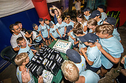 Ballboys after the Trophy ceremony after the Final Singles match at Day 9 of ATP Challenger Zavarovalnica Sava Slovenia Open 2018, on August 11, 2018 in Sports centre, Portoroz/Portorose, Slovenia. Photo by Vid Ponikvar / Sportida
