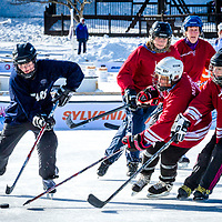 Black Ice Pond Hockey Tournament, 2013 at Whites Park, Concord, New Hampshire. <br /> <br /> All Content is Copyright of Kathie Fife Photography. Downloading, copying and using images without permission is a violation of Copyright.