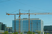 2017 JULY 25 - Construction cranes near South Lake Union in Seattle, WA, USA. By Richard Walker