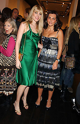 Left to right, MEREDITH OSTROM and ELLA KRASNER at the opening of an exhibition of paintings and watercolours by Raoul Dufy held at the Opera Gallery, 134 New Bond Street, London W1 on 6th February 2006.<br />