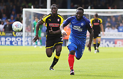 Junior Morias of Peterborough United in action with Josh Emmanuel of Rotherham United - Mandatory by-line: Joe Dent/JMP - 19/08/2017 - FOOTBALL - ABAX Stadium - Peterborough, England - Peterborough United v Rotherham United - Sky Bet League One