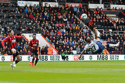 Lucas Moura (27) of Tottenham Hotspur tries a overhead shot at goal in the dying seconds during the Premier League match between Bournemouth and Tottenham Hotspur at the Vitality Stadium, Bournemouth, England on 4 May 2019.