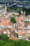 Blick auf Weinheim und Schloss, Baden-Württemberg, Deutschland | Overlooking Weinheim, Baden-Württemberg, Germany