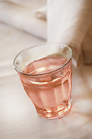 Picardie Glass of rose wine, napkin on back