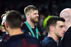 George Kruis of England is all smiles after the match - Mandatory byline: Patrick Khachfe/JMP - 07966 386802 - 26/11/2016 - RUGBY UNION - Twickenham Stadium - London, England - England v Argentina - Old Mutual Wealth Series.