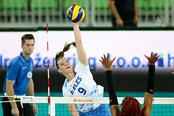 Iza Mlakar of Slovenia during the volleyball match between National team of Slovenia and Dominican Republic in Preliminary Round of Womens U23 World Championship 2017, on September 4, 2017 in SRC Stozice, Ljubljana, Slovenia. Photo by Morgan Kristan / Sportida