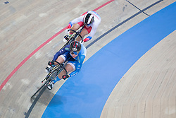 February 28, 2019 - Pruszkow, Poland - Sze Wai Lee (HKG),Anastasiia Voinova (RUS) on day two of the UCI Track Cycling World Championships held in the BGZ BNP Paribas Velodrome Arena on February 28, 2019 in Pruszkow, Poland. (Credit Image: © Foto Olimpik/NurPhoto via ZUMA Press)