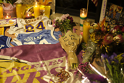 January 26, 2020, Los Angeles, California, U.S: Flowers, pictures and messages are placed at a makeshift memorial for former NBA player Kobe Bryant outside of the Mamba Sports Academy in Thousand Oaks, California. (Credit Image: © Ringo Chiu/ZUMA Wire)