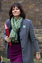 London, UK. 18th December, 2018. Claire Perry MP, Minister for Energy and Clean Growth at the Department of Business, Energy and Industrial Strategy, arrives at 10 Downing Street for the final Cabinet meeting before the Christmas recess. Topics to be discussed were expected to include preparations for a 'No Deal' Brexit.