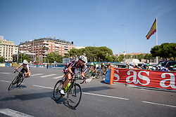 Mia Radotic (BTC City Ljubljana) attacks at Madrid Challenge by La Vuelta an 87km road race in Madrid, Spain on 11th September 2016.