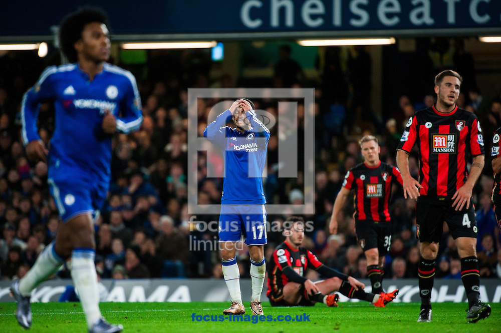 Pedro of Chelsea reacts after a missed shot during the Barclays Premier League match at Stamford Bridge, London<br /> Picture by Jack Megaw/Focus Images Ltd +44 7481 764811<br /> 05/12/2015