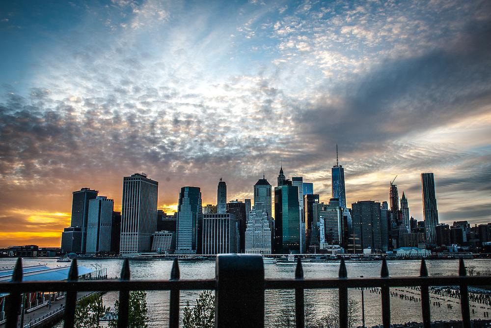 New York Skyline at Sunset