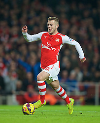 LONDON, ENGLAND - Saturday, November 22, 2014: Arsenal's Jack Wilshere in action against Manchester United during the Premier League match at the Emirates Stadium. (Pic by David Rawcliffe/Propaganda)